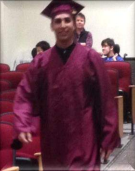 Photo of Derek graduating!