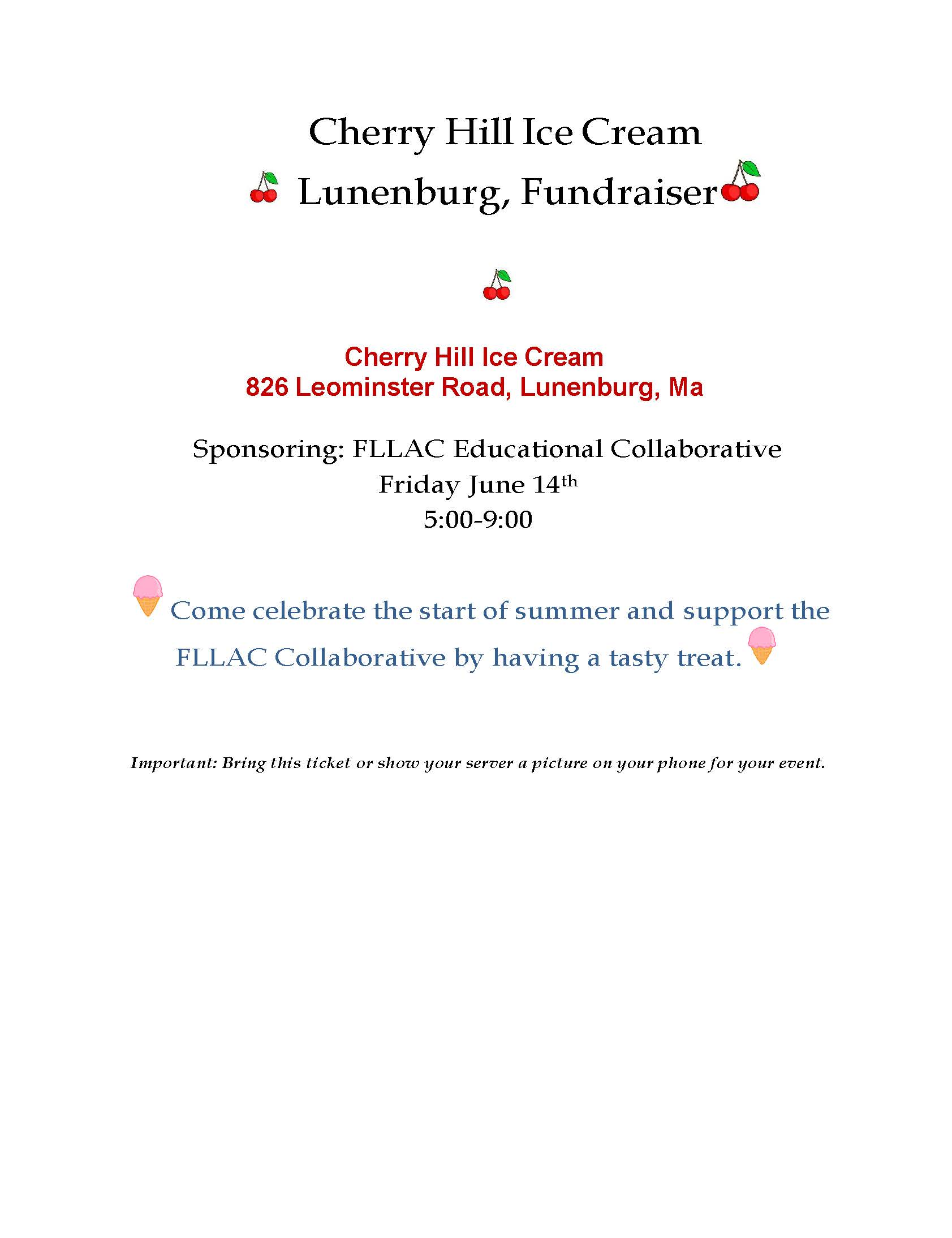 Cherry Hill Fundraiser
